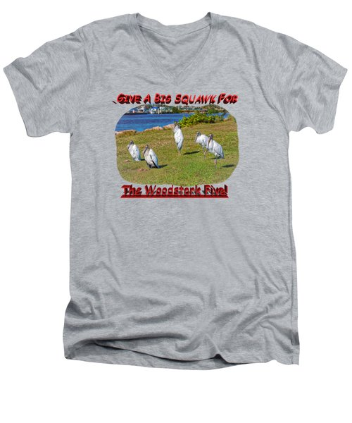 The Woodstork Five Men's V-Neck T-Shirt by John M Bailey
