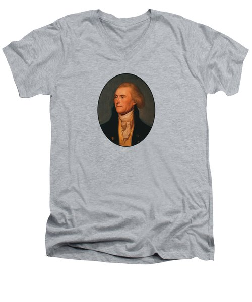 Thomas Jefferson Men's V-Neck T-Shirt by War Is Hell Store