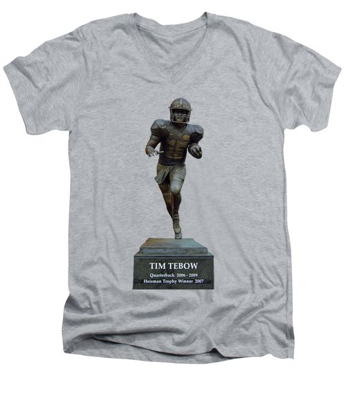 Tim Tebow Transparent For Customization Men's V-Neck T-Shirt by D Hackett
