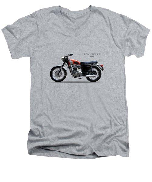 Triumph Bonneville 1969 Men's V-Neck T-Shirt by Mark Rogan