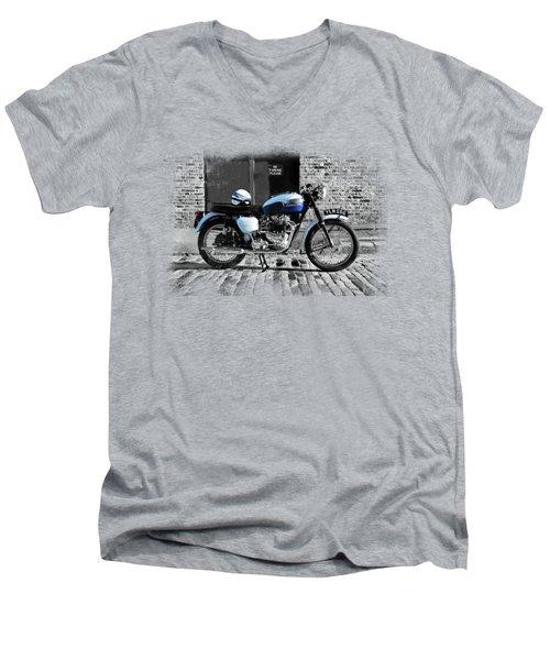 Triumph Bonneville T120 Men's V-Neck T-Shirt by Mark Rogan