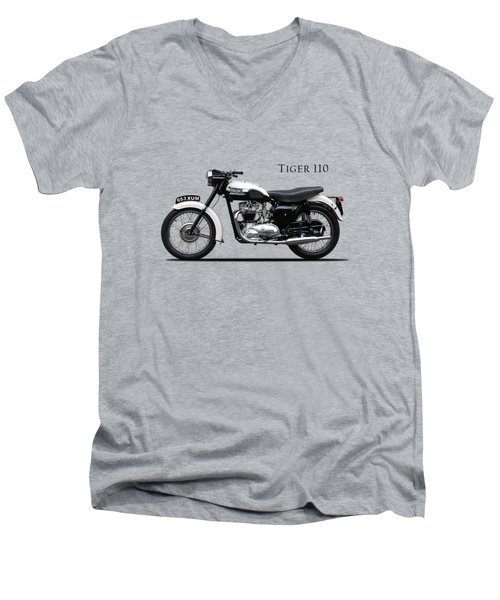 Triumph Tiger 1959 Men's V-Neck T-Shirt by Mark Rogan
