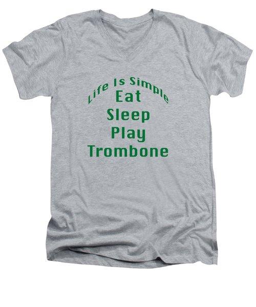 Trombone Eat Sleep Play Trombone 5517.02 Men's V-Neck T-Shirt by M K  Miller