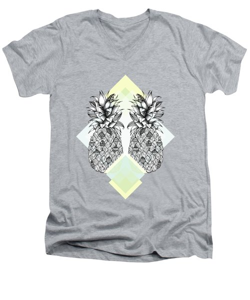 Tropical Men's V-Neck T-Shirt by Barlena Illustrations