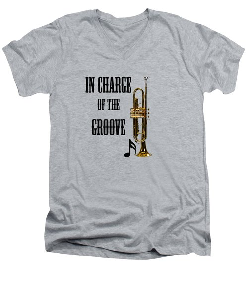 Trumpets In Charge Of The Groove 5536.02 Men's V-Neck T-Shirt by M K  Miller