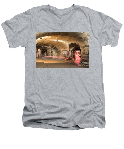 Underground Tunnels In Guanajuato, Mexico Men's V-Neck T-Shirt by Juli Scalzi