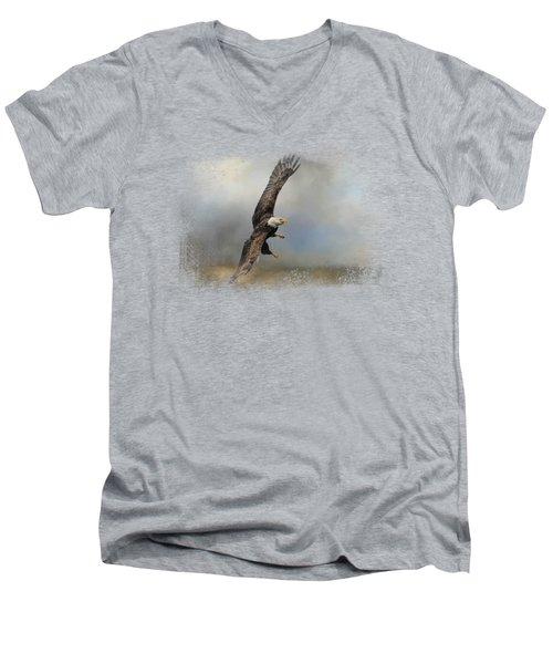 Up Against The Storm Men's V-Neck T-Shirt by Jai Johnson
