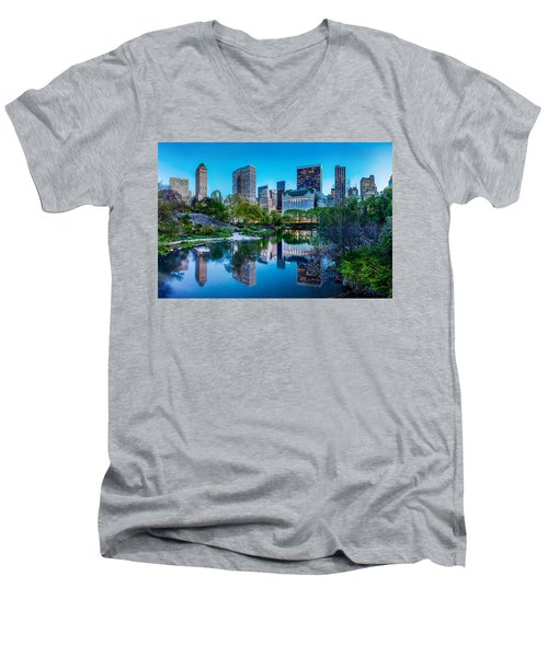 Urban Oasis Men's V-Neck T-Shirt by Az Jackson