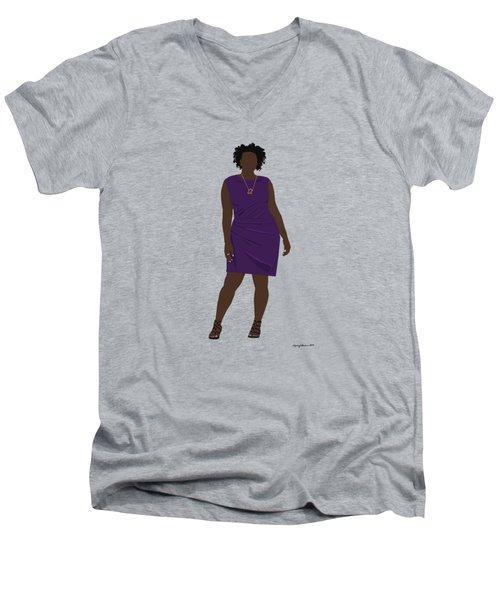 Vanessa Men's V-Neck T-Shirt by Nancy Levan