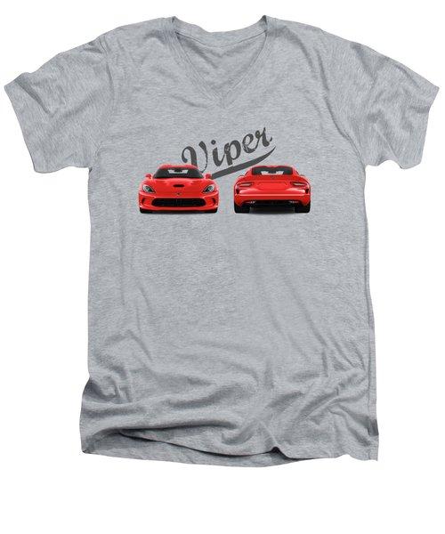 Viper Men's V-Neck T-Shirt by Mark Rogan