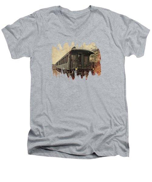 Virginia City Pullman Men's V-Neck T-Shirt by Thom Zehrfeld