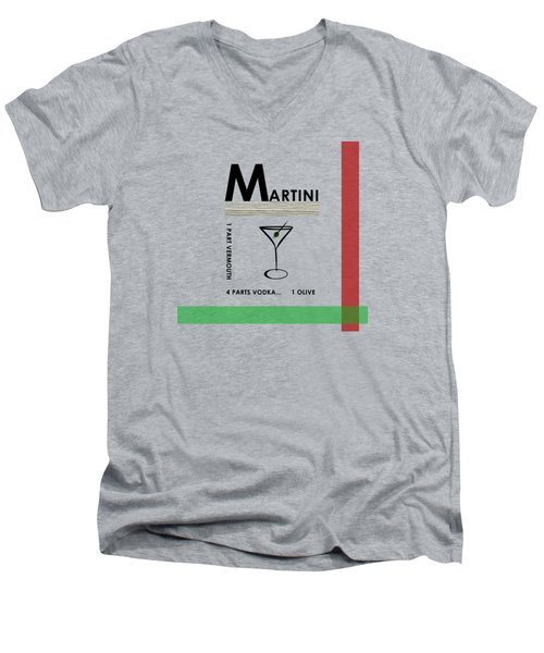 Vodka Martini Men's V-Neck T-Shirt by Mark Rogan