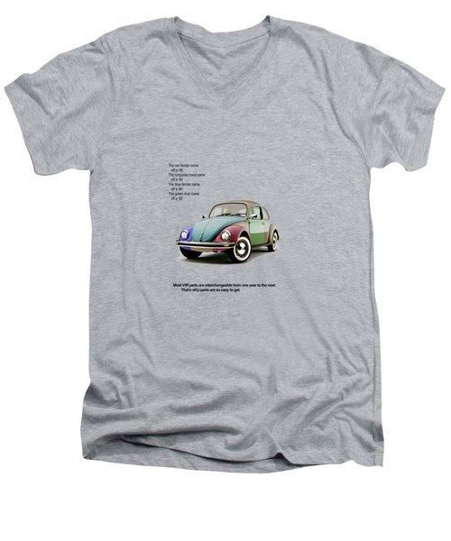 Vw Parts Men's V-Neck T-Shirt by Mark Rogan