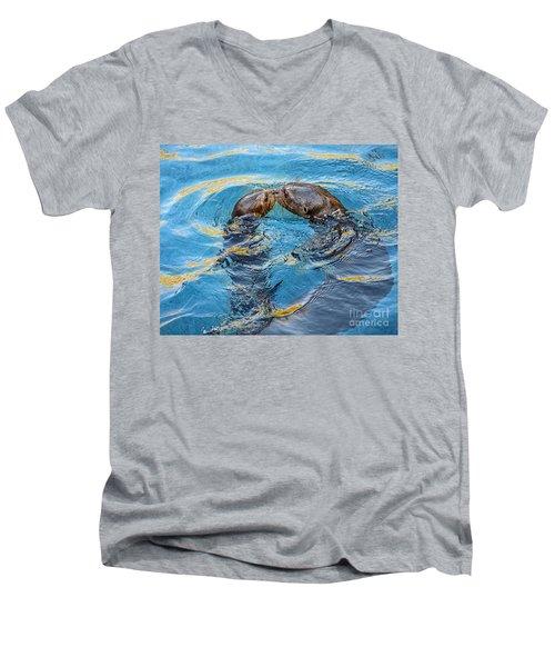Water Kisses Men's V-Neck T-Shirt by Jamie Pham
