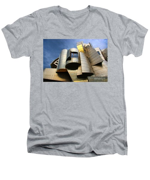 Weisman Art Museum University Of Minnesota Men's V-Neck T-Shirt by Wayne Moran