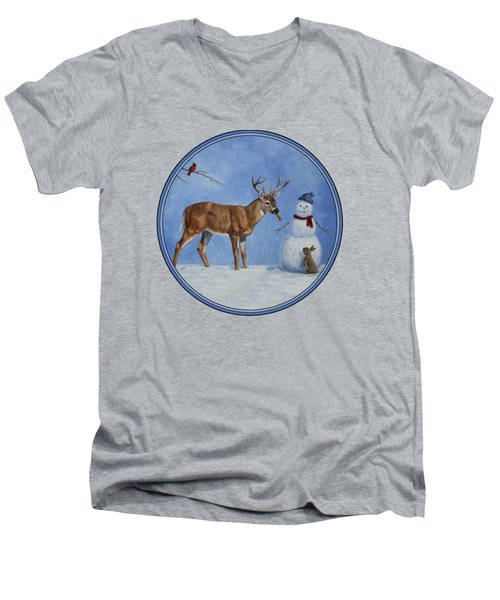 Whose Carrot Seasons Greeting Men's V-Neck T-Shirt by Crista Forest