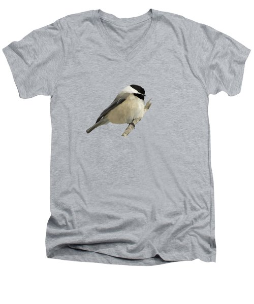 Willow Tit Men's V-Neck T-Shirt by Bamalam  Photography