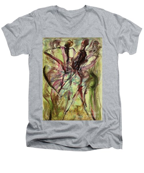 Windy Day Men's V-Neck T-Shirt by Ikahl Beckford