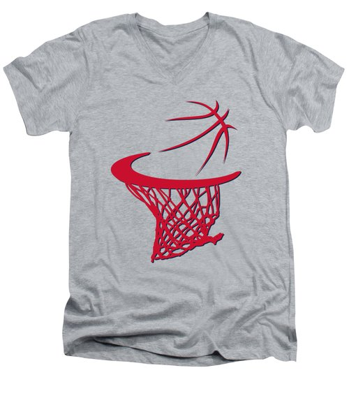 Wizards Basketball Hoop Men's V-Neck T-Shirt by Joe Hamilton
