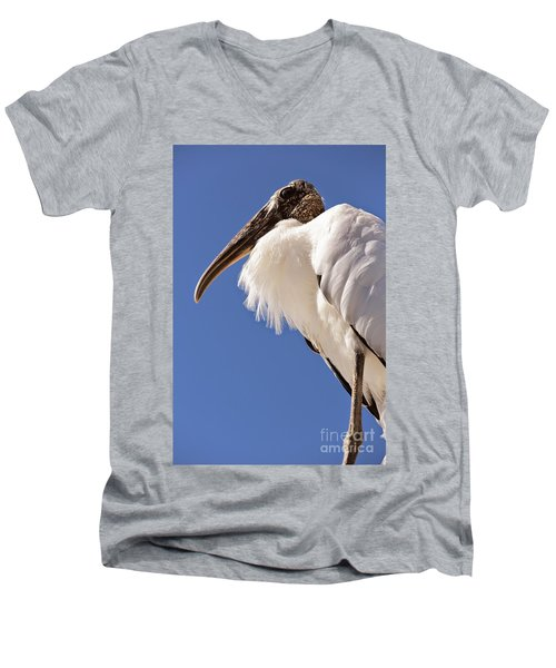 Wonderful Wood Stork Men's V-Neck T-Shirt by Carol Groenen