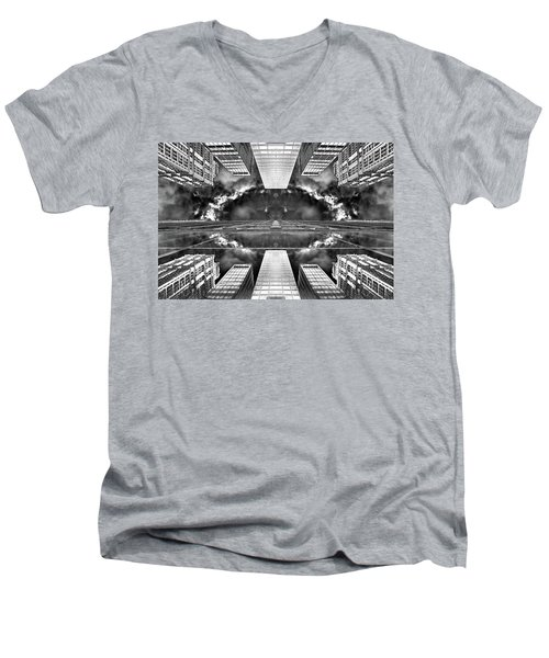 Worlds End  Men's V-Neck T-Shirt by Az Jackson
