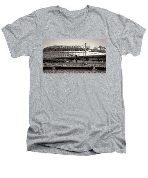 Yankee Stadium    1923  -  2008 Men's V-Neck T-Shirt by Daniel Hagerman