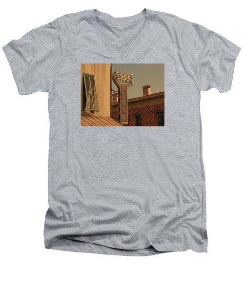 Ybor City Drugs Men's V-Neck T-Shirt by Robert Youmans