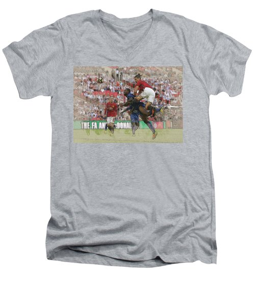 Zlatan Ibrahimovic Header Men's V-Neck T-Shirt by Don Kuing