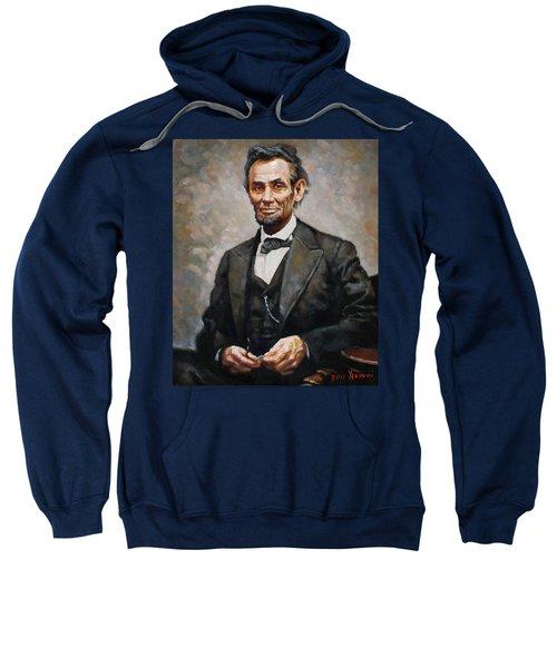 Abraham Lincoln Sweatshirt by Ylli Haruni