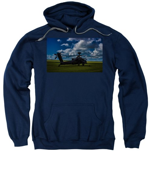 Apache Gun Ship Sweatshirt by Martin Newman