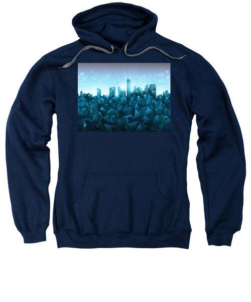 Austin Skyline Geometry 3 Sweatshirt by Bekim Art