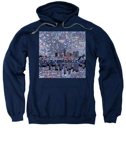 Austin Texas Skyline 3 Sweatshirt by Bekim Art
