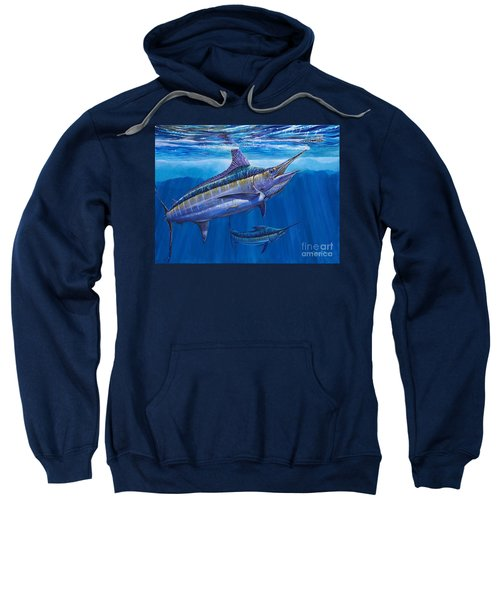 Blue Marlin Bite Off001 Sweatshirt by Carey Chen