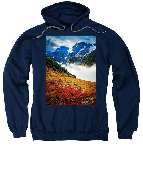 Cascade Pass Peaks Sweatshirt by Inge Johnsson