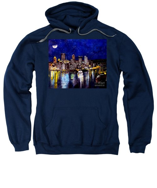 City Of Pittsburgh At The Point Sweatshirt by Christopher Shellhammer