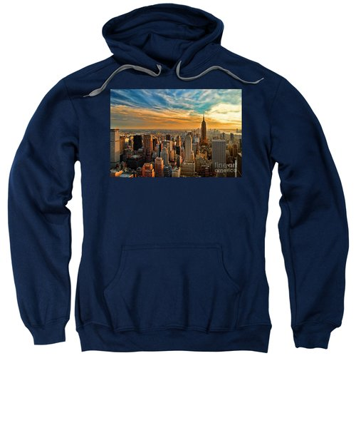 City Sunset New York City Usa Sweatshirt by Sabine Jacobs