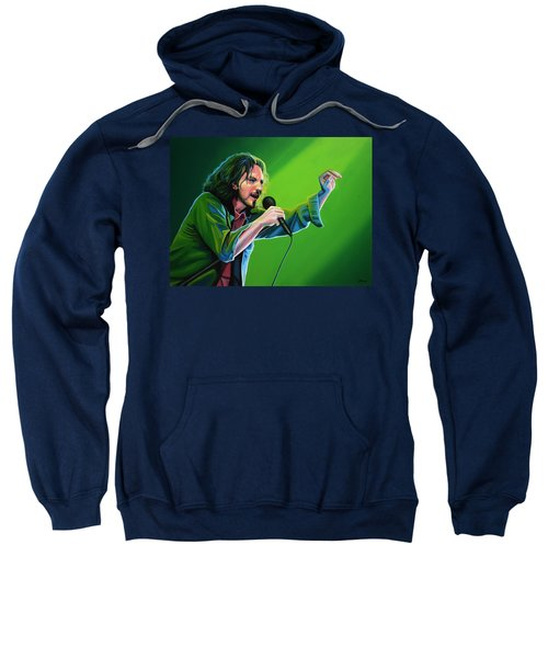 Eddie Vedder Of Pearl Jam Sweatshirt by Paul Meijering
