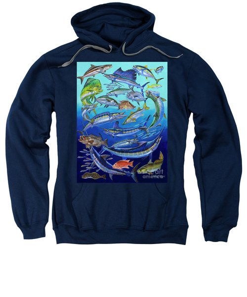 Gamefish Collage In0031 Sweatshirt by Carey Chen