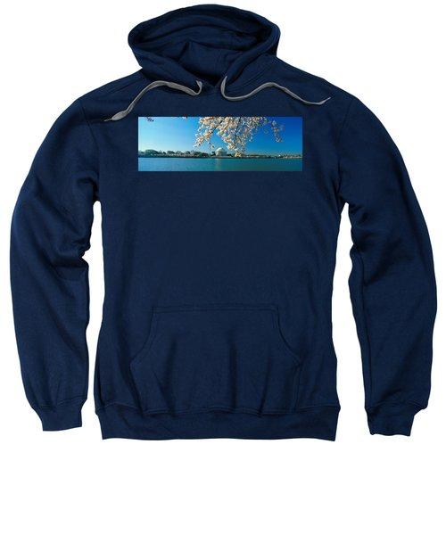 Panoramic View Of Jefferson Memorial Sweatshirt by Panoramic Images