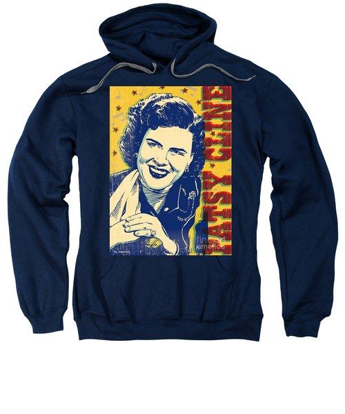 Patsy Cline Pop Art Sweatshirt by Jim Zahniser