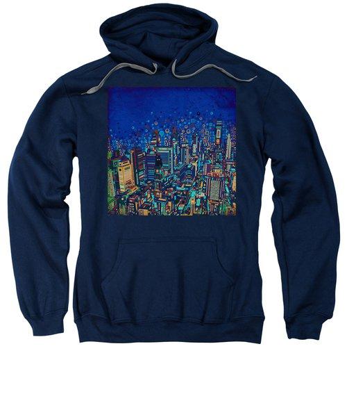 Philadelphia Panorama Pop Art 2 Sweatshirt by Bekim Art