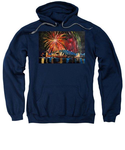 Sydney Silvester Fireworks At New Year Sweatshirt by M Bleichner
