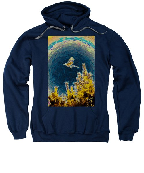 Bluejay Gone Wild Sweatshirt by Trish Tritz