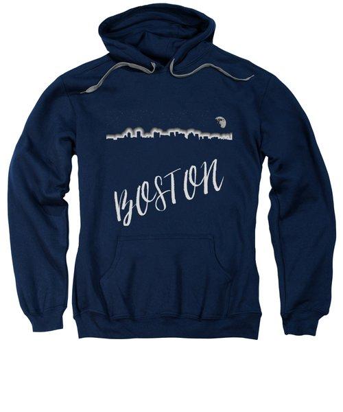 Boston Skyline Poster Sweatshirt by Joann Vitali
