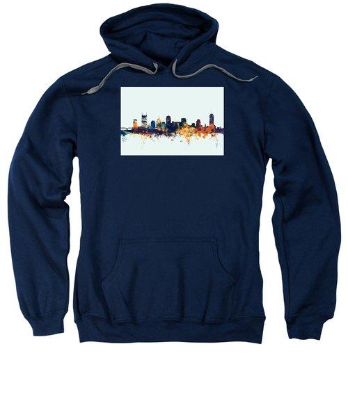 Nashville Tennessee Skyline Sweatshirt by Michael Tompsett