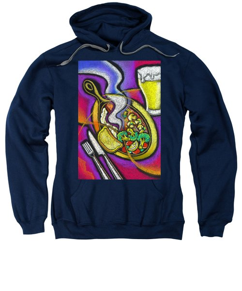 Appetizing Dinner Sweatshirt by Leon Zernitsky