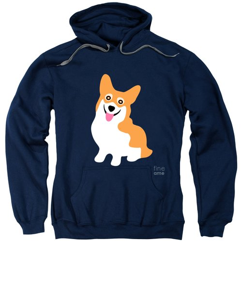 Smiling Corgi Pup Sweatshirt by Antique Images