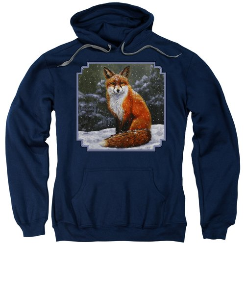 Snow Fox Sweatshirt by Crista Forest