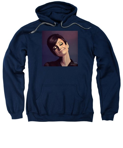 Audrey Hepburn Painting Sweatshirt by Paul Meijering