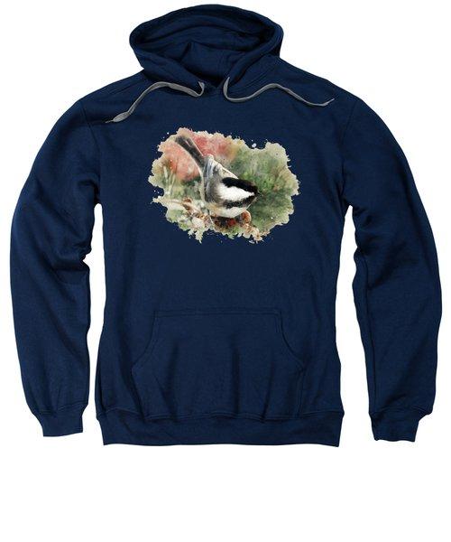 Beautiful Chickadee - Watercolor Art Sweatshirt by Christina Rollo
